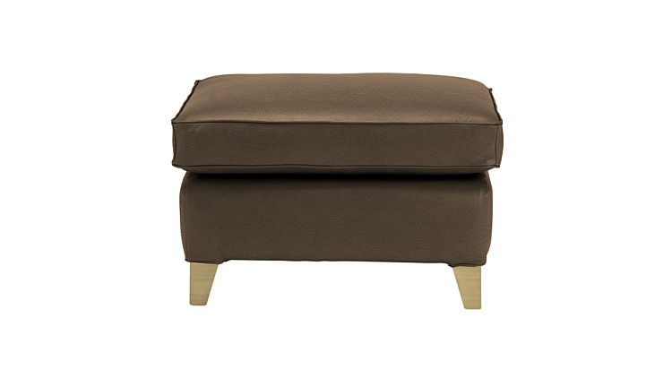 Long Island Leather Footstool