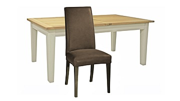 Burghley Extending Dining Table & Ely Leather Chairs