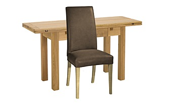 Copenhagen Extending Kitchen Table & Ely Leather Chairs
