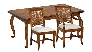 Santiago Extending Dining Table with Carvers & Side Chairs