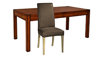 Trafalgar Extending Dining Table & Ely Leather Chairs