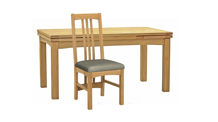 Copenhagen Extending Dining Table & Fabric Side Chairs